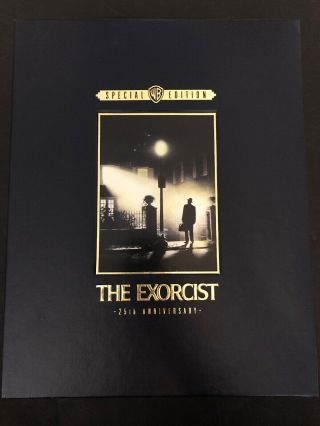 The Exorcist 25th Anniversary Special Edition Cd Dvd Box Set W/ Book Lobby Cards
