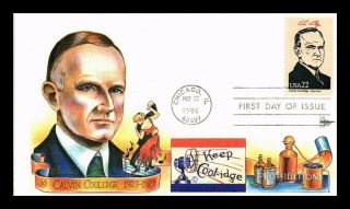 Dr Jim Stamps Us Calvin Coolidge Presidents Gill Craft First Day Of Issue Cover