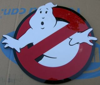3d Ghostbusters 3 - D Art Sign Display Murray Monster Movie Dvd Cover
