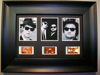 Blues Brothers Framed Trio Movie Film Cell Memorabilia - Compliments Dvd Poster