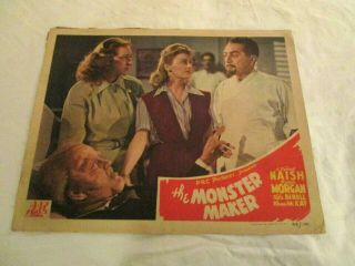 The Monster Maker,  Lobby Card 7,  1944,  Prc,  Naish