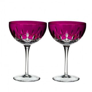 Waterford Lismore Pops Hot Pink Cocktail Pair 40010843