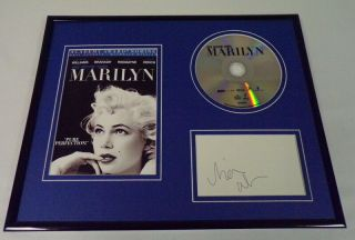 Michelle Williams Signed Framed My Week With Marilyn Dvd & Photo Display