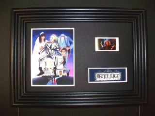 Beetlejuice Framed Movie Film Cell Memorabilia Compliments Poster Dvd Book