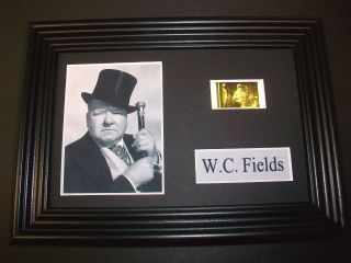 W C Fields Framed Movie Film Cell Memorabilia Compliments Poster Dvd Weed