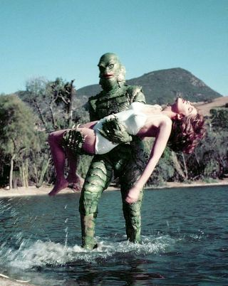 Creature From The Black Lagoon Julie Adams 8x10 Color Photo 2a