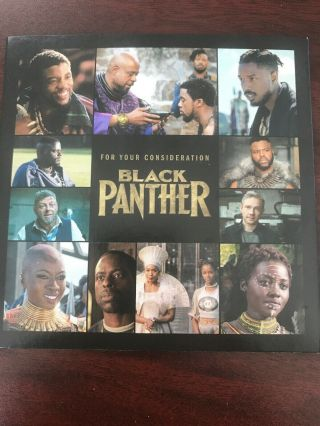 Black Panther Marvel Movie Promo Dvd Not