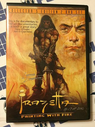 Frank Frazetta Painting With Fire Autographed By Director 17 Of 200 (2003)