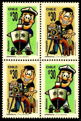 Chile,  Traditional Crafts,  Peanut Vendor And Photographer,  Mnh,  Year 200