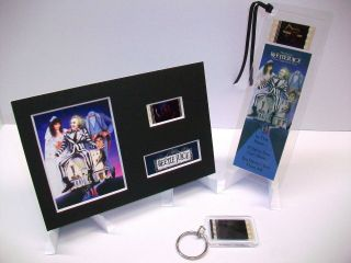 Beetlejuice 3 Piece Movie Film Cell Memorabilia Complements Dvd Poster Book