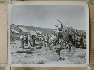 Camera Crew Filming On Location Candid Western Production Photo 1947 Black Bart