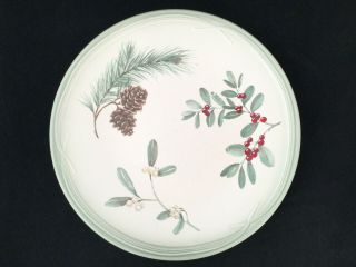 "Set Of 4 Pfaltzgraff Portfolio Winterwood 11 1/4 "" Dinner Plates -"