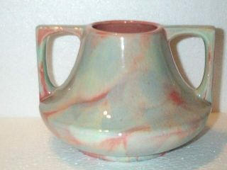 Large Peach Agate Royal Hickman Haeger Mottled Vase Fulper Arts Craft Era Coral