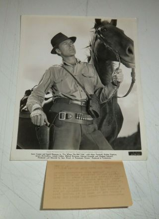 1943 Photo Gary Cooper For Whom The Bell Tolls Ernest Hemingway