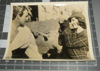 1936 Norma Shearer W/ Camera Leslie Howard Romeo & Juliet Movie Publicity Photo