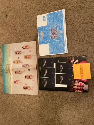 Twice Summer Nights Album Mini Poster,  Craft,  Large Polaroid,  5 Photocards