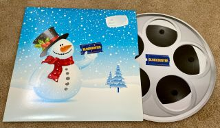 Blockbuster Video Movie Reel Dvd Holiday Gift Holder Card - Rare & Out Of Print