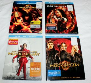 Blu - Ray Dvd Movie The The Hunger Games Complete Movie Series
