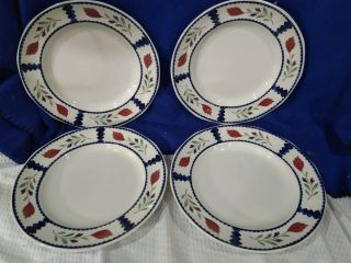 Adams Lancaster Stoneware Dinner Plates Set Of 4 Crafted In England