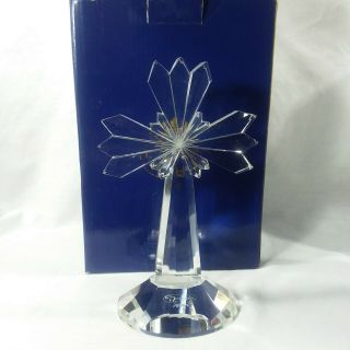 Sorelle Hand Crafted Crystal Glass Cross W Box And Sleeve Easter Gift