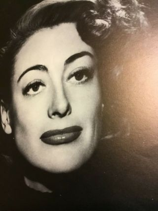 Joan Crawford Black & White Vintage Movie Portrait Poster Entertainment Arts