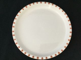 "Set Of 4 Block Gresval Staccatto Terracotta 10 3/8 "" Dinner Plates - Ships"