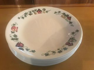 Corning Corelle Garden Home - Set Of 8 Bread & Butter Plates