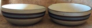 Otagiri Japan Horizon Two Hand Crafted Coupe 6 Inch Cereal Bowls