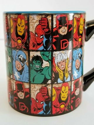Large Marvel Comics Character Grid Coffee Mug 14 Oz