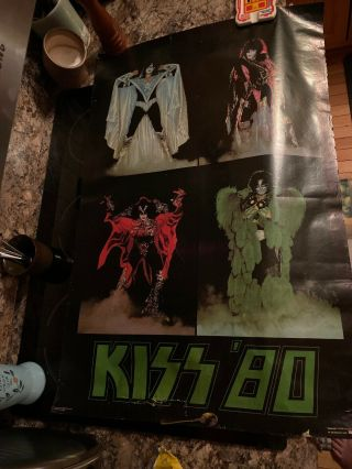 Extremely Rare Canada Campus Craft Kiss '80 Poster 1979 Aucoin Gene Paul Ace