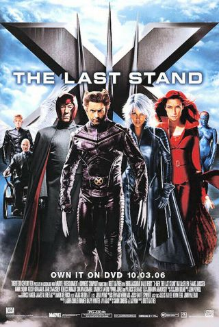 X - Men The Last Stand (2006) Dvd/video Poster - Single - Sided - Rolled