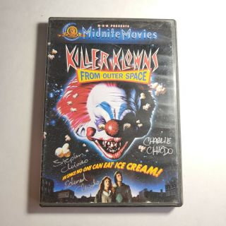 Killer Klowns From Outter Space Dvd Signed X3 Chiodo Brothers