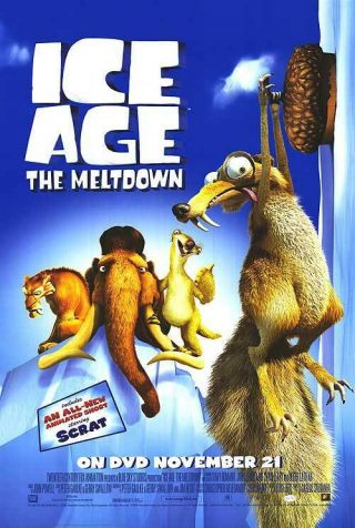 Ice Age 2 The Meltdown Dvd Movie Poster Single Sided 27x40