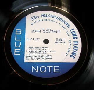John Coltrane Blue Train Blue Note Jazz Vinyl Lp Retro Bowl Hand Crafted Quality