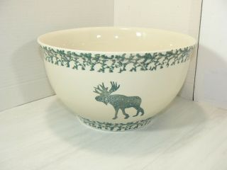 "Tienshan Folk Craft Moose Country Large Mixing Bowl Retired 10 1/2 "" Wide"