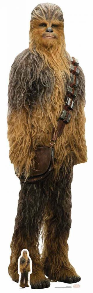 Chewbacca Star Wars The Last Jedi Lifesize And Mini Cardboard Cutout / Standee
