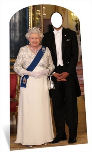 Queen Elizabeth Ii Standin Cardboard Cutout - Have A Royal Photo With The Queen