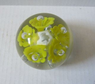Htf St Clair Mike Mitchell Stamped Hand Crafted Blown Glass Heavy Paperweight