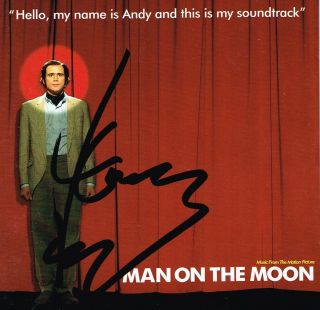 Jim Carrey Hand Signed Autograph Man On The Moon Cd Cover In Person Proof Actor