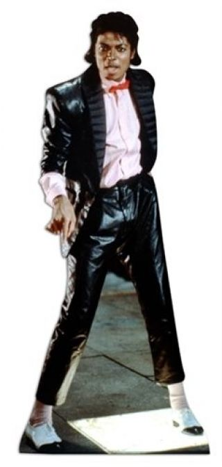 Michael Jackson Pop Singer Cardboard Cutout 178cm Tall - Invite Him To Your Party
