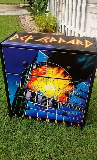 Custom Made 3 Drawer Def Leppard Chest Nightstand 80