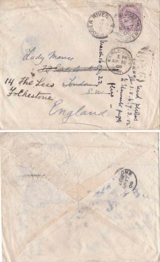South Africa Boer War 1900 Qv 1/2 Army Po And Adj Moder River {below}