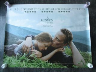 A Hidden Life Uk Movie Poster Quad Double - Sided 2019 Cinema Poster Rare