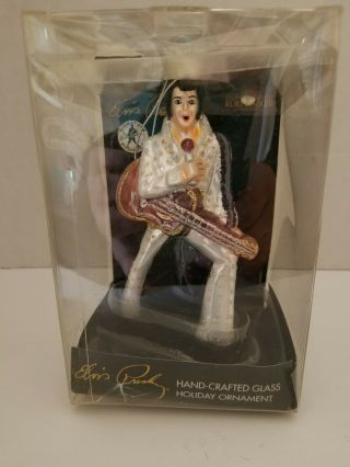 Elvis Presley Hand Crafted Glass Holiday Ornament By Kurt Adler