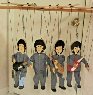 Vtg 60s Puppet Marionette Beatles George Paul Ringo John Hand Crafted By Joan