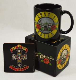 Officially Licensed Boxed Guns N Roses Mug & Coaster Set.  Christmas,  Xmas,