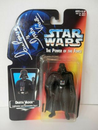 Vintage 1995 Star Wars Darth Vader Autographed By Dave Prowse - Nib -