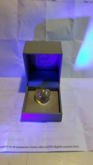 Lalique Glass Ring Engraved R Lalique.  I Think 60/70s Boxed Carbonara