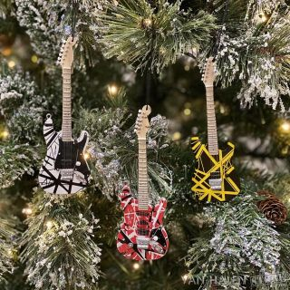 Evh Mini Guitar Ornament Complete Set,  Eddie Van Halen Christmas Tree