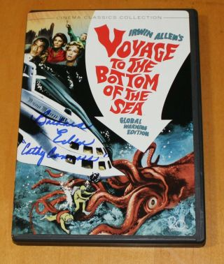 Voyage To The Bottom Of The Sea Dvd Signed By Barbara Eden (lt.  Cathy Connors)